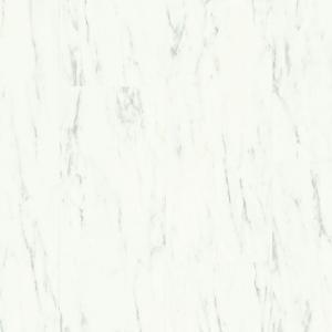 ПВХ плитка Quick-Step AMCL40136 Мрамор каррарский белый