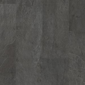 ПВХ плитка Quick-Step AMGP40035 Сланец чёрный