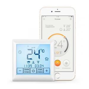 Терморегулятор для теплого пола Теплолюкс MCS 350 с Wi-Fi модулем белый