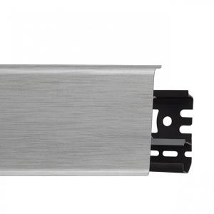 Плинтус пластиковый Arbiton (Арбитон)  Indo Алюминий Светлый арт. 41