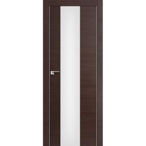 Дверь 15Z Венге Кроскут ст. триплекс белый, кромка хром с 2х сторон