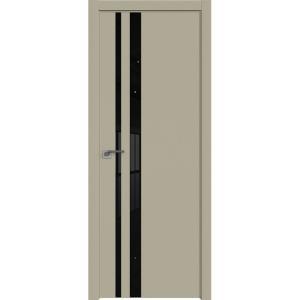 Дверь 16Е Шеллгрей, стекло черный лак, кромка в цвет полотна