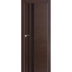 Дверь 16Z Венге Кроскут ст. коричневый лак, кромка хром с 2х сторон