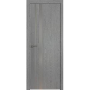 Дверь 16ZN Грувд Серый, стекло серебро матлак, кромка ABS в цвет полотна с 4-х сторон