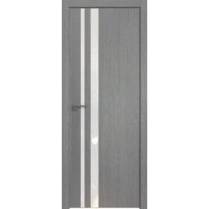 Дверь 16ZN Грувд серый, вертикальное направление структуры
