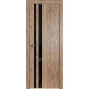 Дверь 16ZN Салинас Светлый, стекло черный лак, кромка ABS в цвет полотна с 4-х сторон
