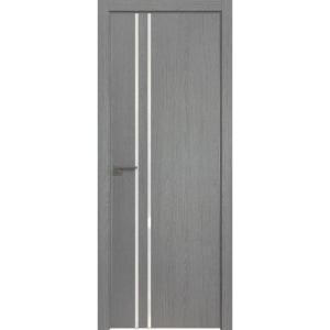Дверь 35ZN Грувд серый, вертикальное направление структуры