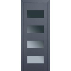 Дверь 46U Антрацит стекло графит