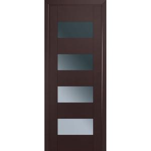 Дверь 46U Темно-коричневый матовый стекло графит