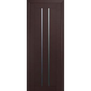 Дверь 49U Темно-коричневый матовый стекло графит