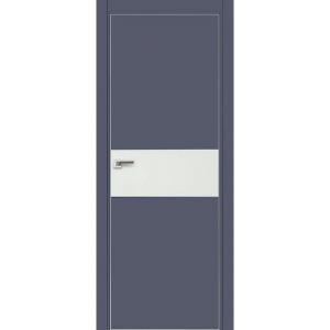 Дверь 4Е Антрацит, стекло белый лак, кромка матовая с 4х ст.