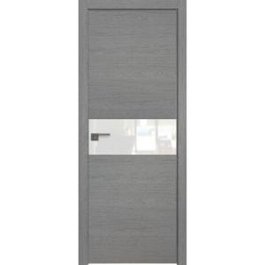 Дверь 4ZN Грувд серый, горизонтальное направление структуры