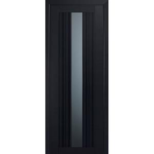 Дверь 53U Черный матовый стекло графит