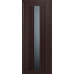 Дверь 53U Темно-коричневый матовый стекло графит