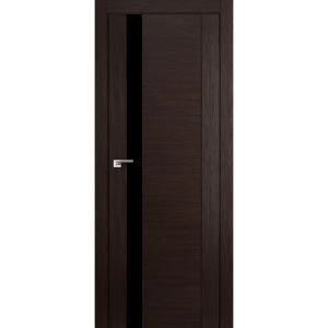 Дверь 62X Венге Мелинга стекло черный лак