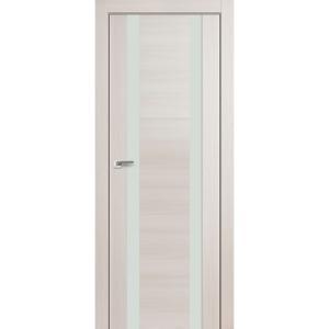 Дверь 63X Эш Вайт Мелинга стекло белый лак