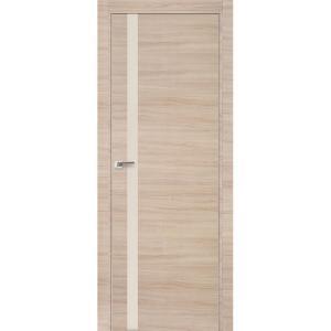 Дверь 6Z Капучино Кроскут ст. перламутровый лак, матовая алюминиевая кромка с 4х сторон