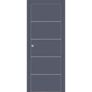 Дверь 7Е Антрацит, кромка матовая с 4х ст.