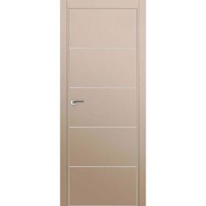 Дверь 7Е Капучино сатинат, кромка матовая с 4х ст.