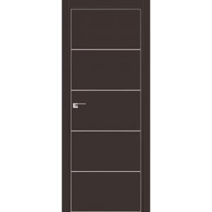 Дверь 7Е Темно-коричневый матовый, кромка матовая с 4х ст.