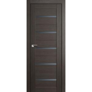 Дверь 7X Грей Мелинга стекло графит