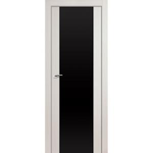 Дверь 8X Эш Вайт Мелинга стекло триплекс черный