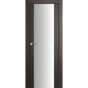 Дверь 8X Грей Мелинга стекло триплекс белый