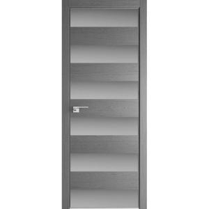 Дверь 8ZN Грувд серый, горизонтальное направление структуры