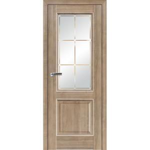 Дверь 90ХN Салинас светлый, стекло гравировка