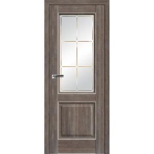 Дверь 90ХN Салинас темный, стекло гравировка