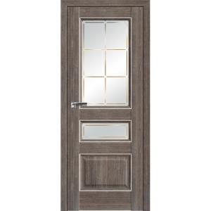 Дверь 94ХN Салинас темный, стекло гравировка