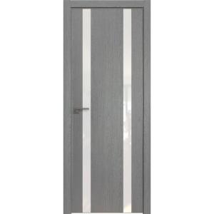 Дверь 9ZN Грувд серый, вертикальное направление структуры